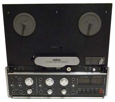 Revox B77 Mk2 two track analogue open reel tape recorder