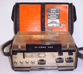 Fi-cord 202 portable tape recorder