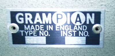 Grampian 562A name badge
