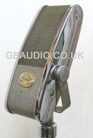 vintage Lustraphone ribbon microphone