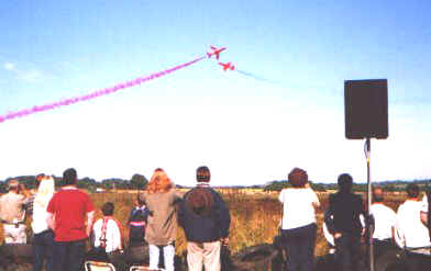 """Top sound"" said Red 10, the Red Arrows own commentator"