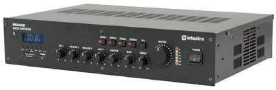 Adastra 240W PA mixer amplifier with FM, USB, SD, Bluetooth