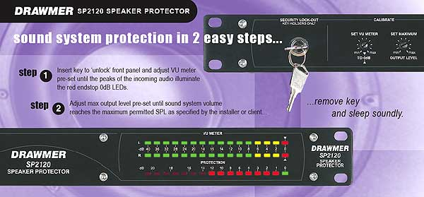 Drawmer SP2120 loudspeaker protection system controller limiter