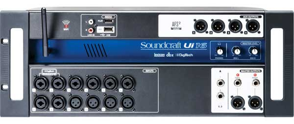 Soundcraft Ui16 wireless remote controlled digital mixing console