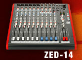 Allen & Heath ZED-14 4 bus compact mixing console